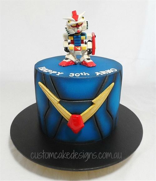 Cake Design Viseu : customcakedesigns Anime Gundam 30th Cake