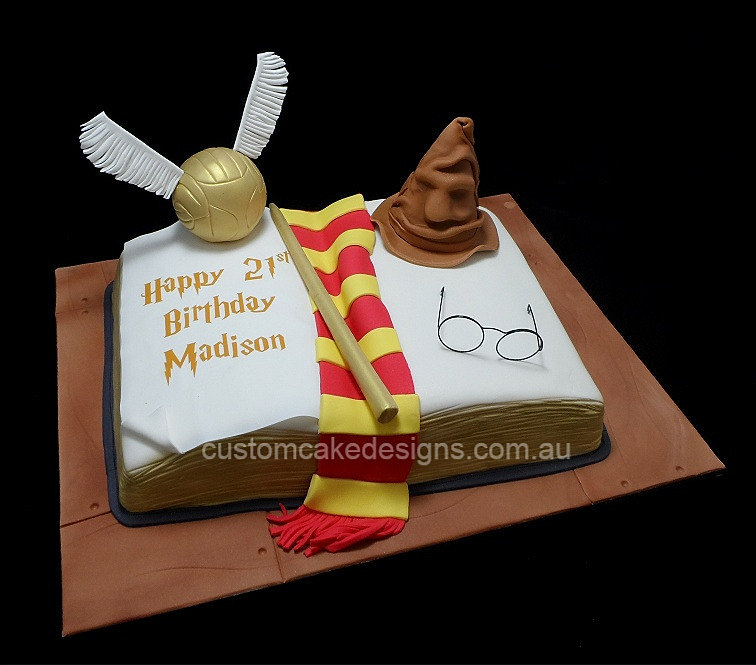 customcakedesigns Harry Potter Birthday Cake
