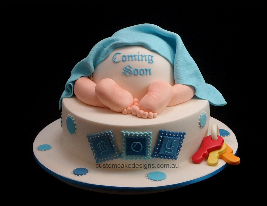 Cake Designs For Baby : Baby Shower Cakes: Custom Baby Shower Cakes Perth