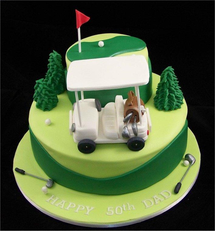 Fondant Golf Cake Design : customcakedesigns Golf Cake