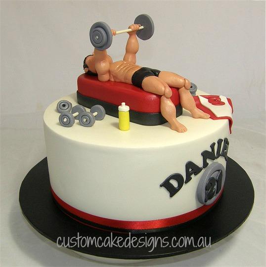 customcakedesigns   Gym Workout Cake