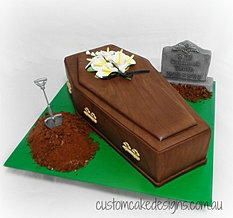 Cakes for women custom cake designs perth for Coffin cake template