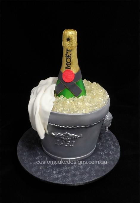 How To Make A Champagne Bucket Cake
