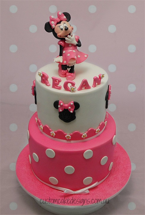 Images Of 1st Anniversary Cake : customcakedesigns Minnie Mouse Pink Birthday Cake