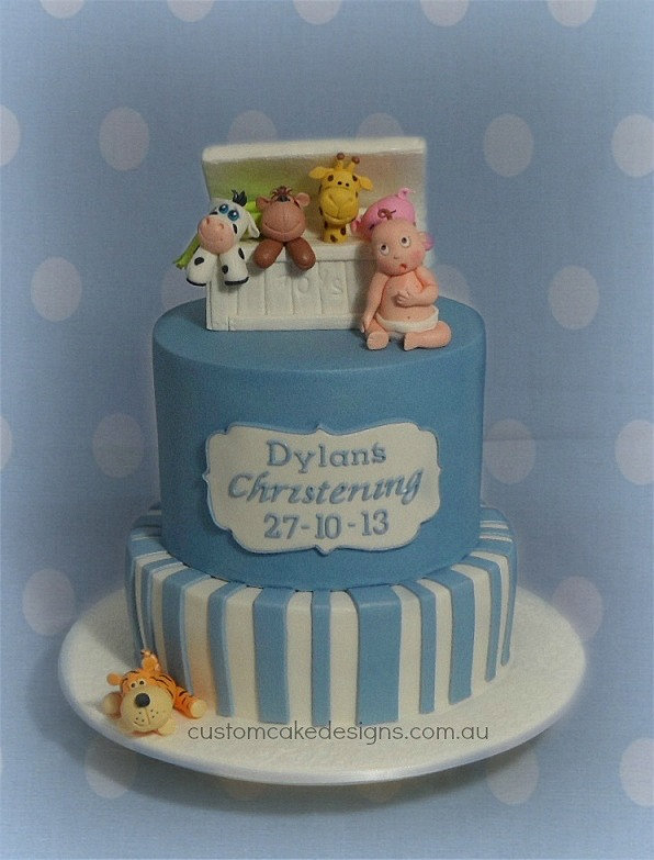 Christening Cakes For Boys Images