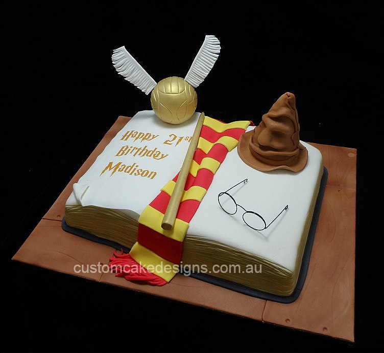 Open Book Cake Images : Custom Cake Designs Cake Decorator Perth Harry Potter ...