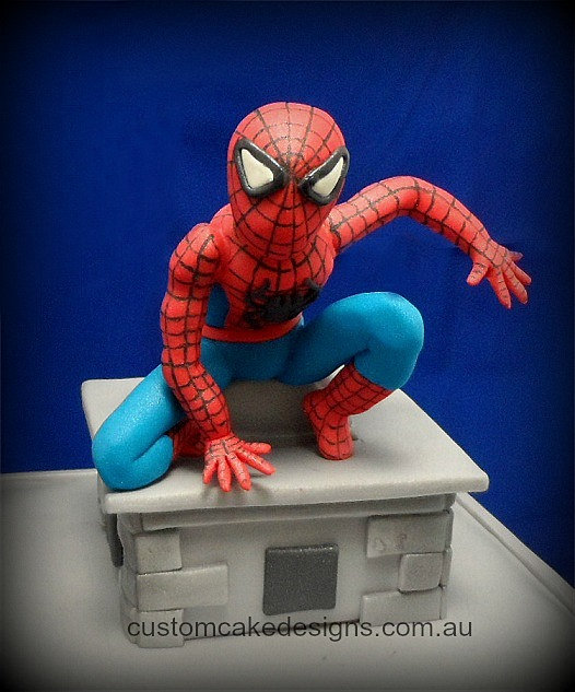 Fondant Spiderman Cake Topper Tutorial