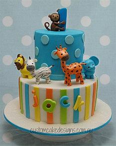 first birthday cakes custom cake designs perth on jungle birthday cake design