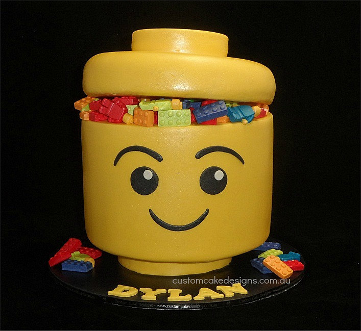 Lego Blocks Cake Design : Custom Cake Designs Cake Decorator Perth Lego Head Cake ...