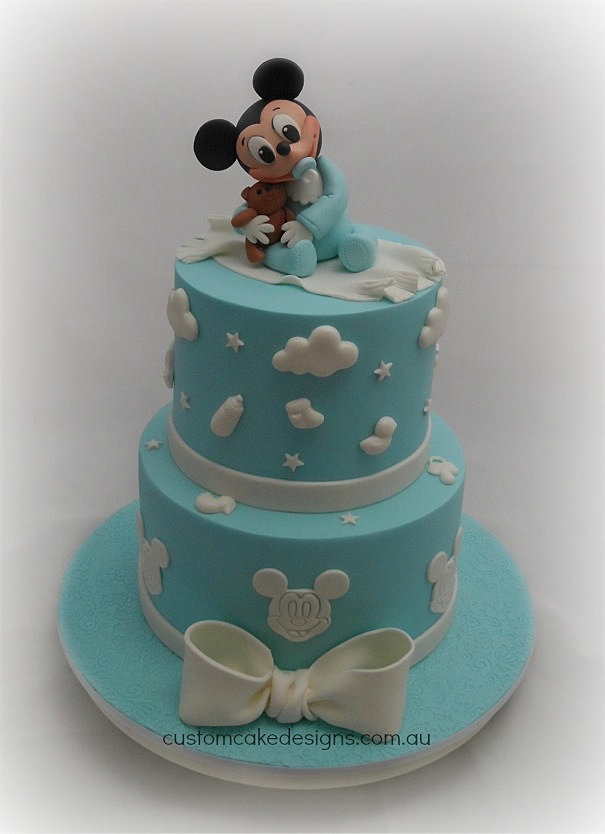 Images Of Mickey Mouse Baby Shower Cakes