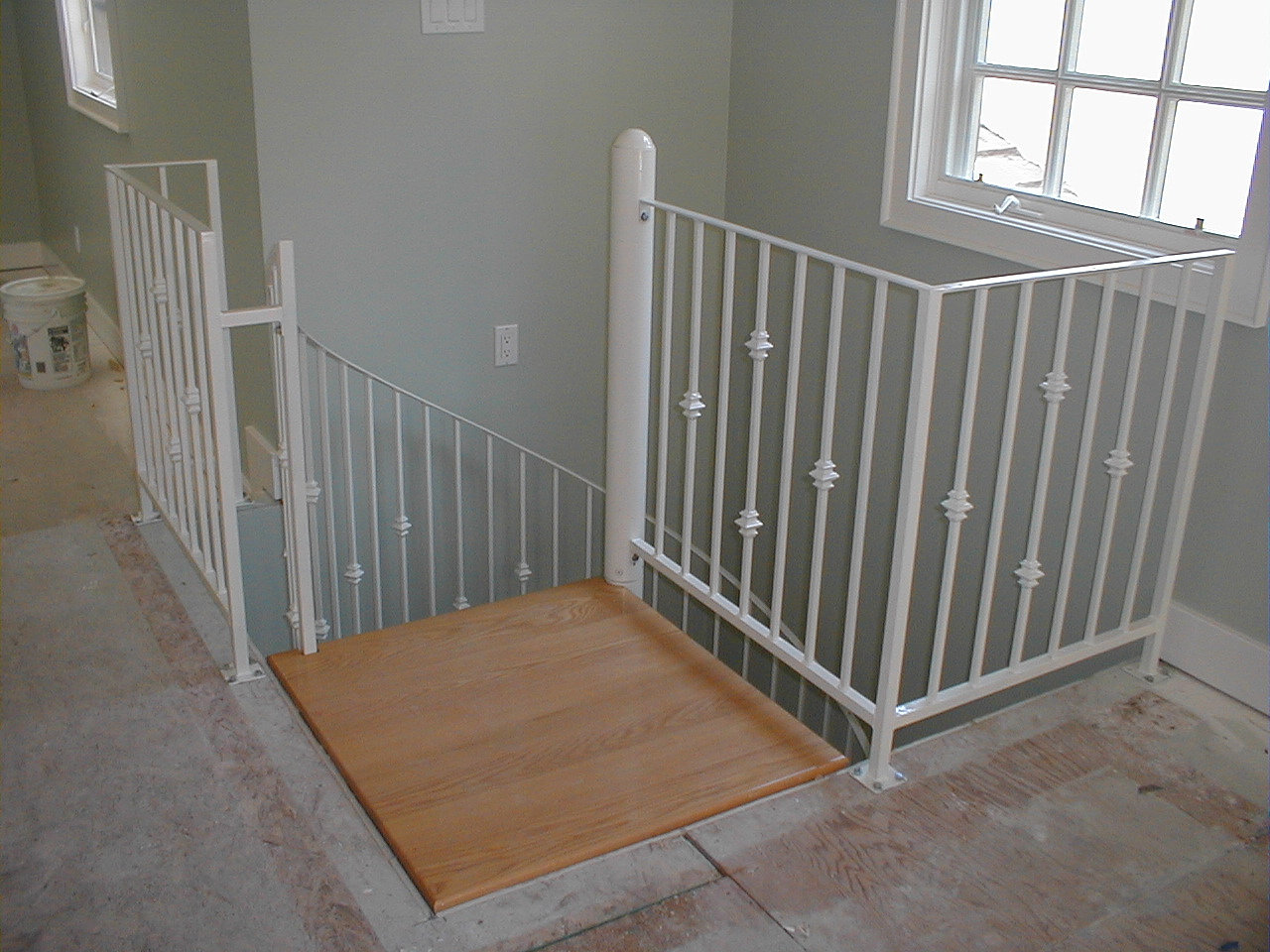 Spiral Staircase Factory Interior Stair Landing With Railings