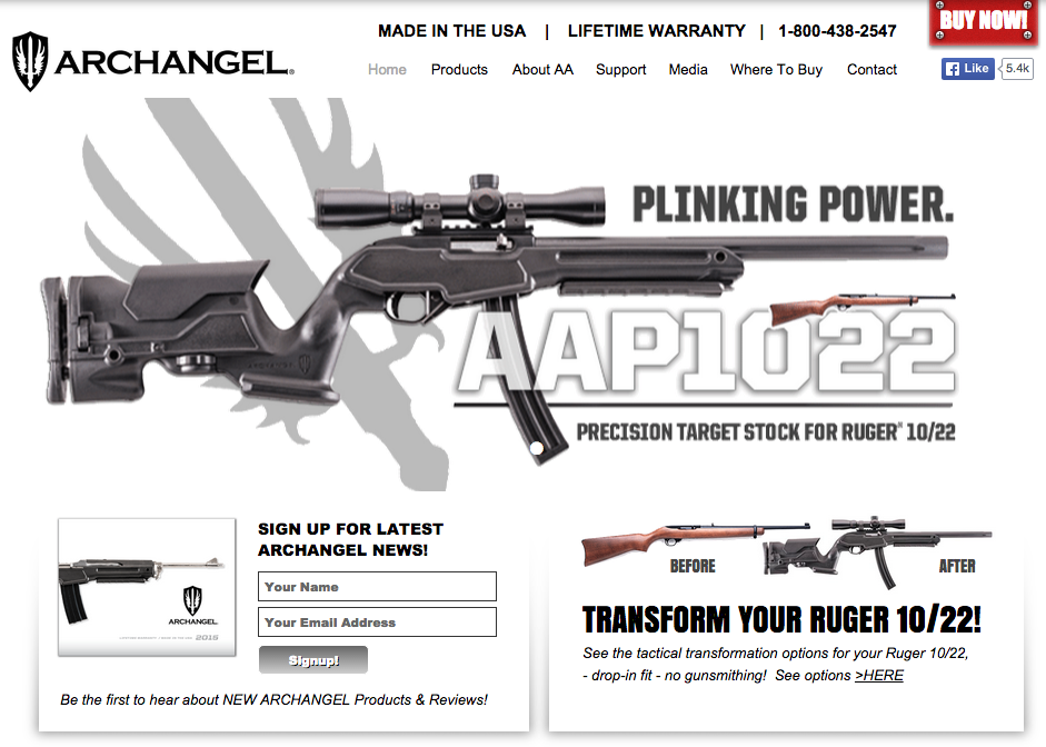 Archangel Rifle Stocks & Accessories M14 Tactical Sniper Rifle