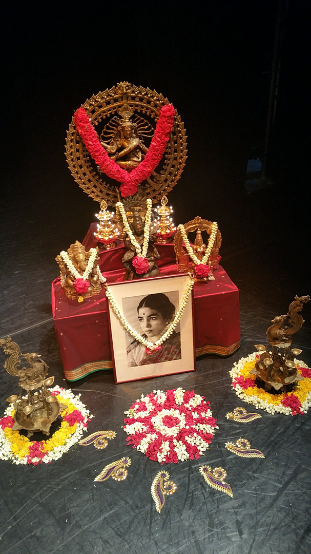 Praapthi decorations for Arangetram stage decoration