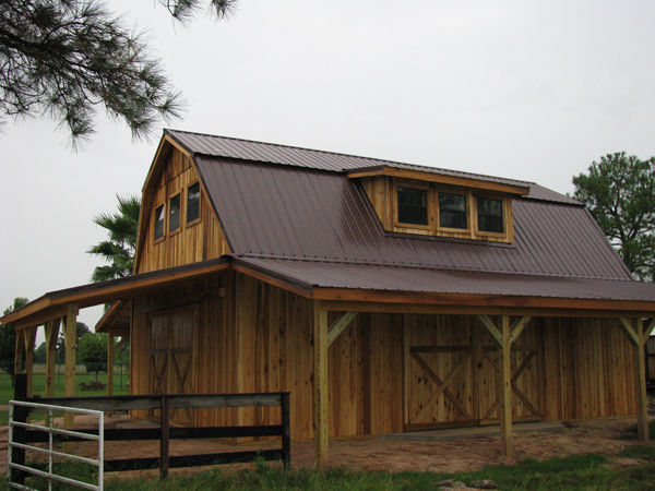 Barns and buildings by all phase nationwide custom for Gambrel roof pole barn