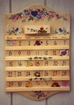 Perpetual calendars painted eggs fine art by patricia leddon - Wooden perpetual wall calendar ...