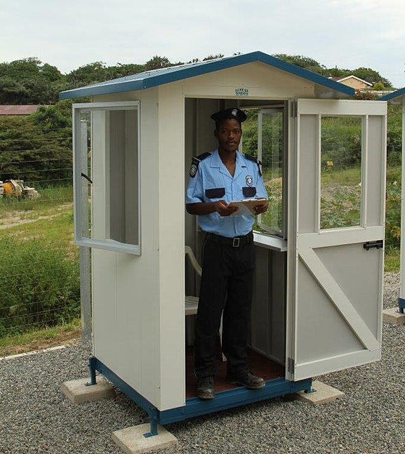 Tilley sheds security guard huts garden sheds for Storage huts for garden