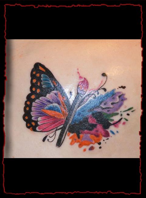 Paint Brush Butterfly | Epidemic Ink Tattoo Studio
