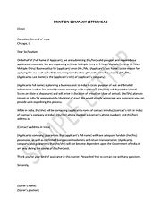 How to write an application letter for visa
