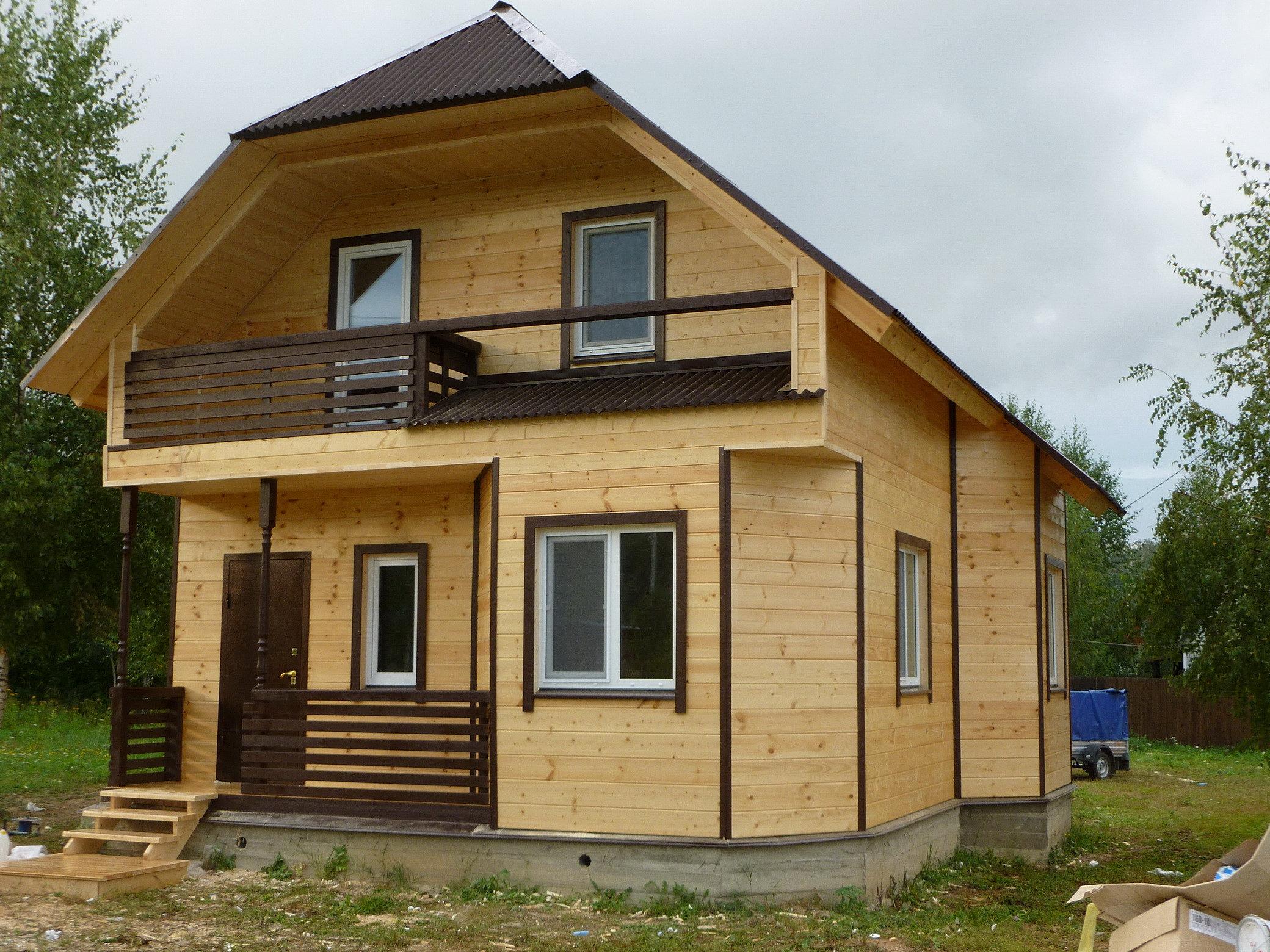 недорогие дома из профилированного бруса под ключ