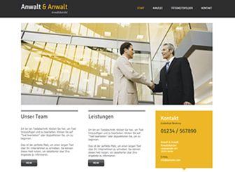 Anwalt & Anwalt Template - Diese professionelle Homepage-Vorlagen ist ideal für Anwaltskanzleien, Rechtsberatungsfirmen und Unternehmen. Es gibt ausreichend Platz für Beschreibungen Ihrer Qualifikationen, Erfahrungen und Leistungen. Sie können Fotos hochladen und Ihr Team vorstellen. Ändern Sie das Design und die Farben, damit diese zu Ihrer Kanzlei passen.