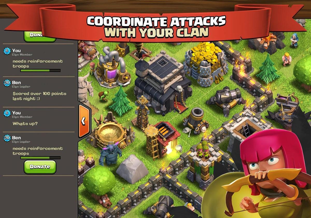 Clash clans last version apk