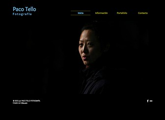 Sesión de fotos Template - Una plantilla minimalista y audaz perfecta para diseñadores, artistas visuales y fotógrafos. Sube imágenes para crear una elegante galería de tus proyectos creativos.