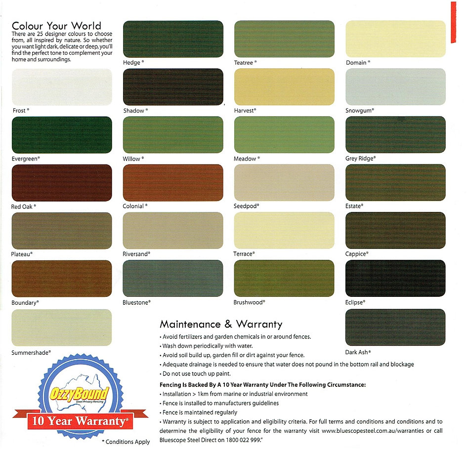 Discount Fencing Supplies Colorbond Ozzybound