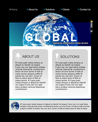 Global Ventures Timeline Template - Go Big with a global inspired Flash template for your Facebook page. Navigation is clean and simple, offering you the option of adding client information, services and solutions.