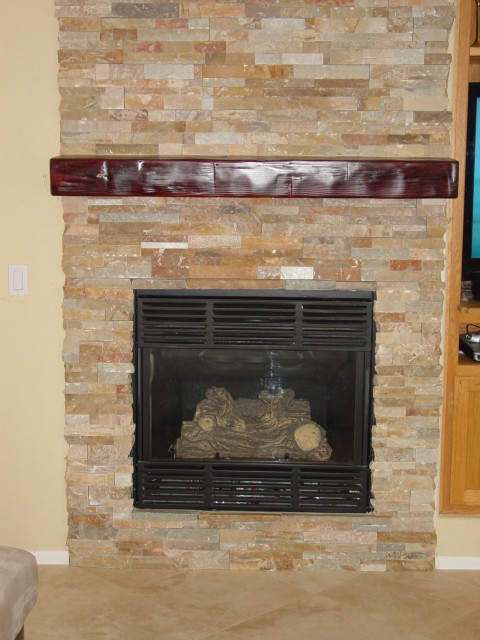 Red Earth Tile Stone Oro Valley Az Flooring Design Center Stacked Stone Fireplace