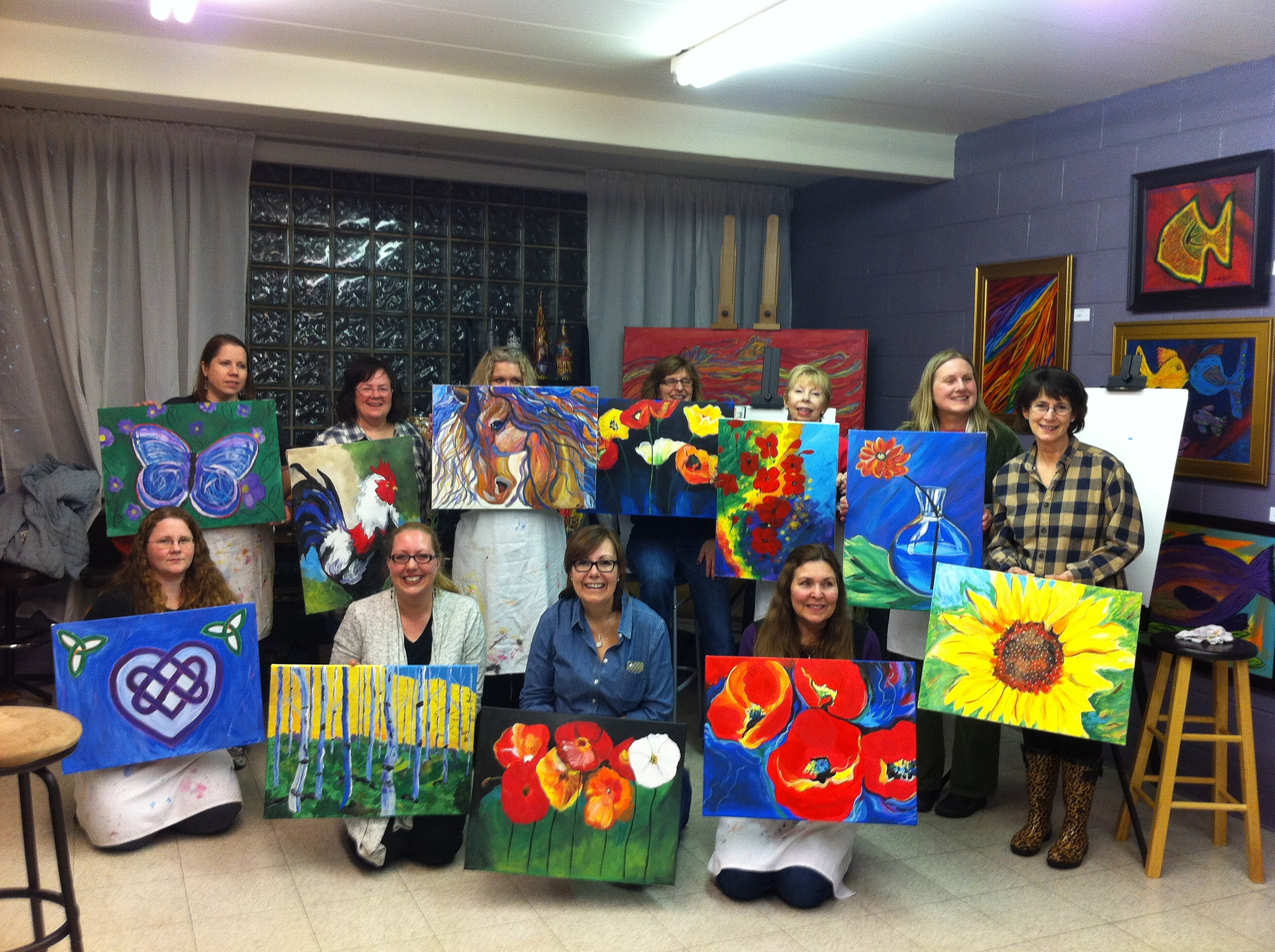 the art station studio our march byob painting party