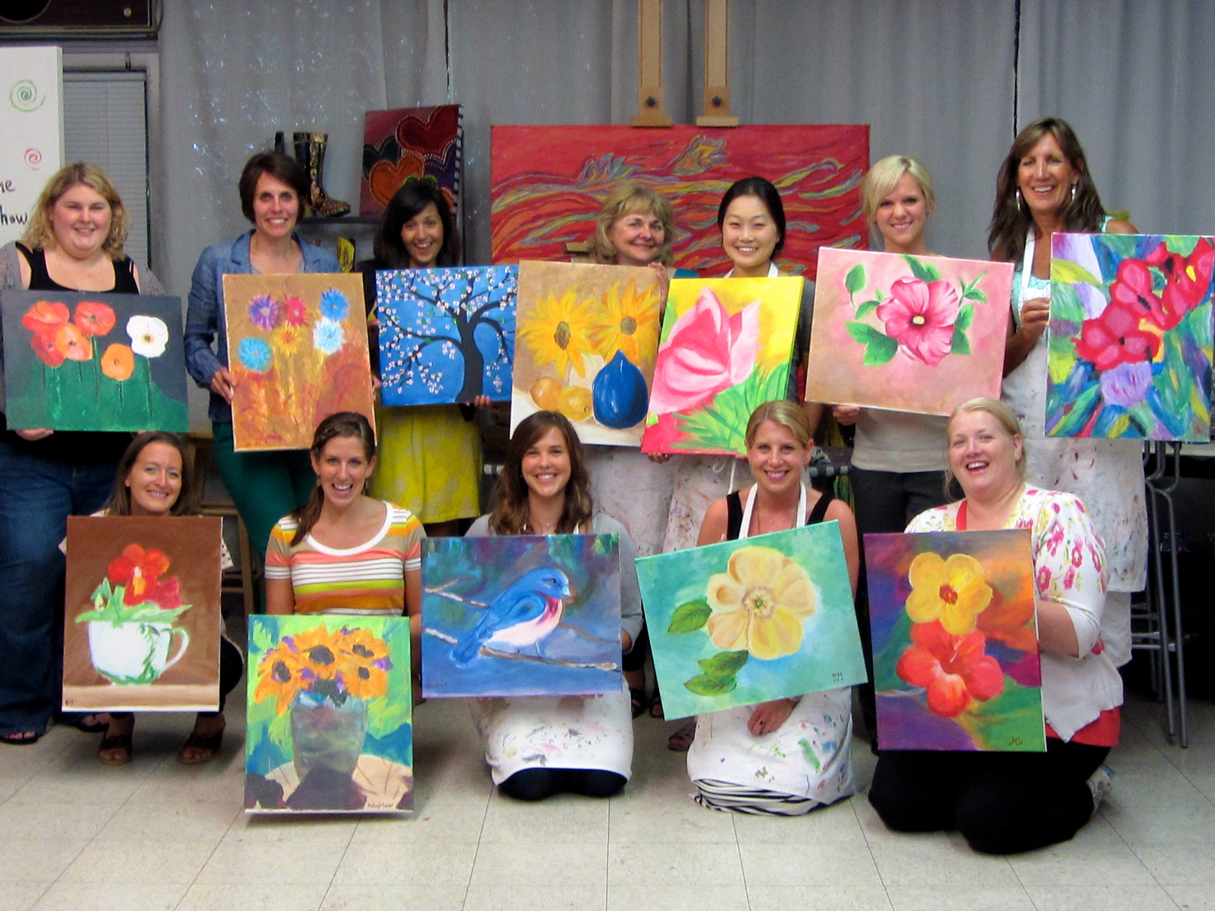 the art station studio byob painting party aug
