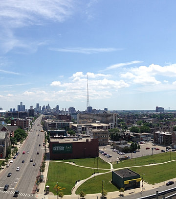 Downtown Detroit from WSU Campus