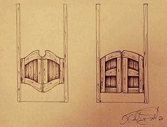 Как сделать ковбойские двери своими руками 10