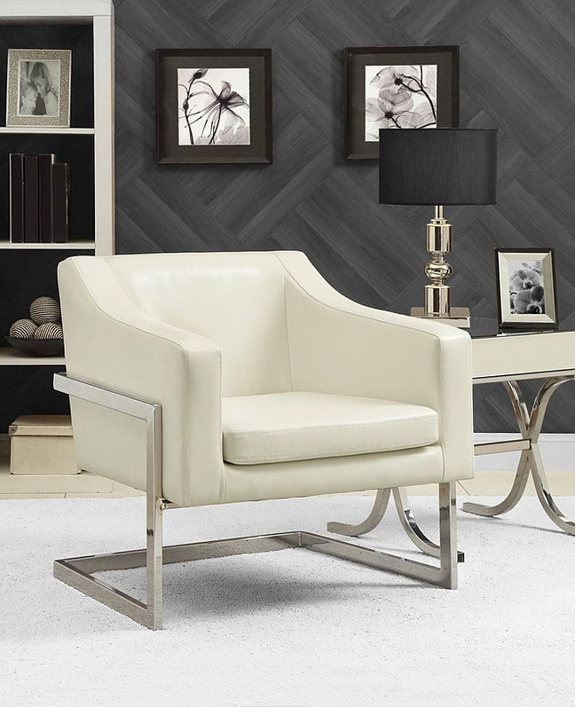White Modern Sloped Track Arm   Savee Furniture. Savee Furniture Oklahoma City Online Home Decor Store