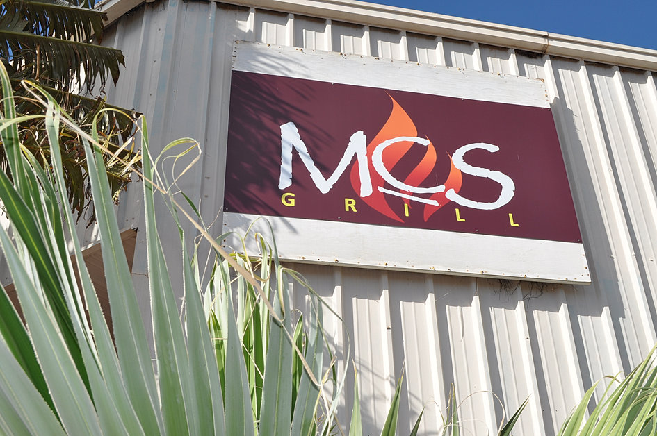 MCS Grill Sign out Front