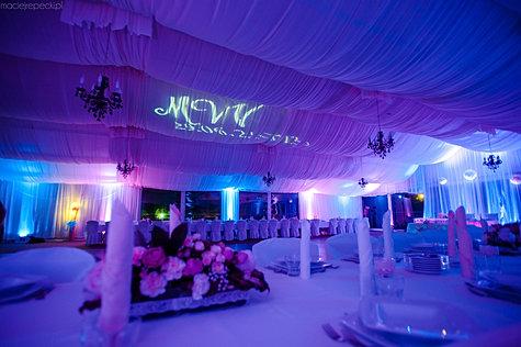 Dekoracja światlem na wesele