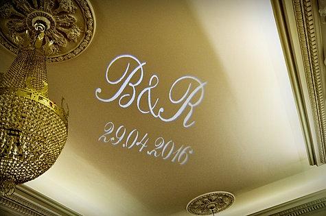 Projektor  gobo wyświetlający datę