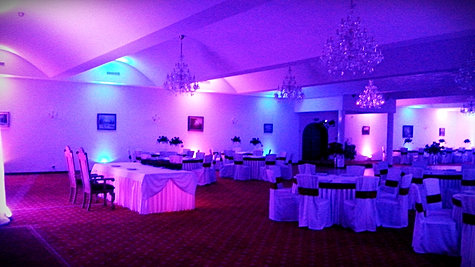 Dekoracja światłem wesele