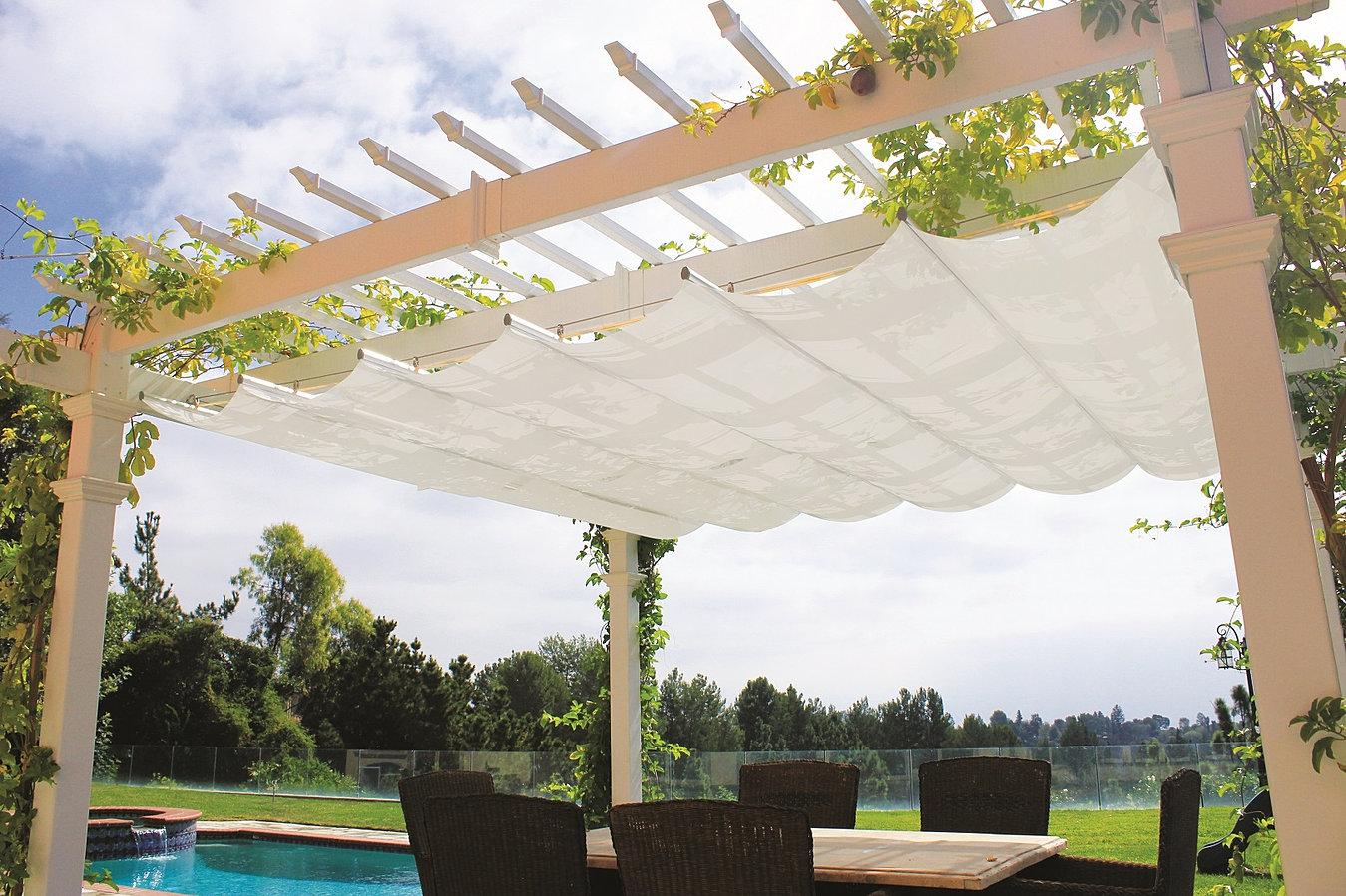 Retractable canopy for pergola - Modular Dynamic Versatile