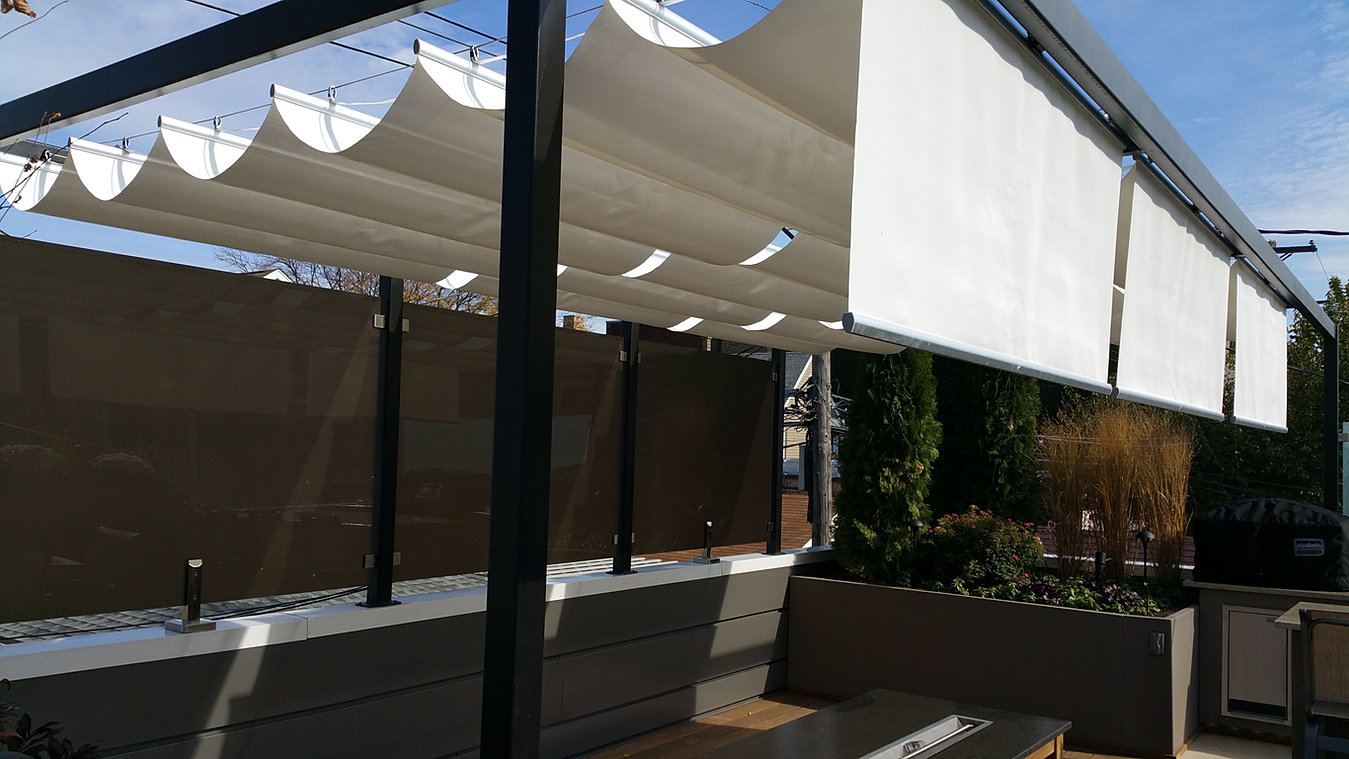 Infinity canopy rooftop deck by chicago green design for Roof awning design