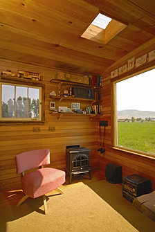 Hut 2 stove and picture window