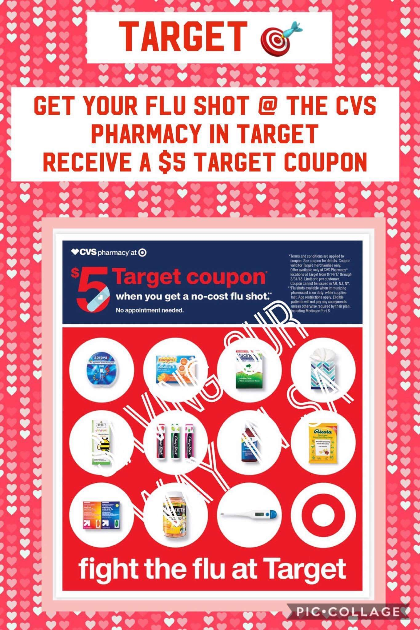 $5 Target Gift Card for getting your Flu shot @ CVS Pharmacy ...