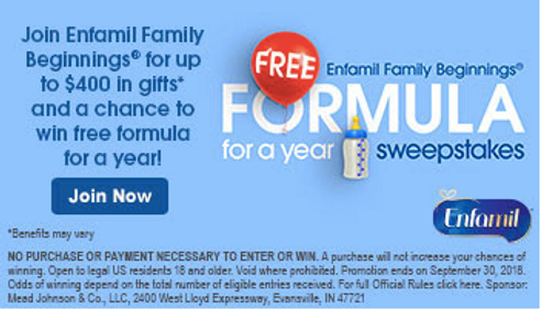photo regarding Enfamil Printable Coupons $10 named Sign up for Enfamil Relatives Beginnings®! Couponing Weblogs United