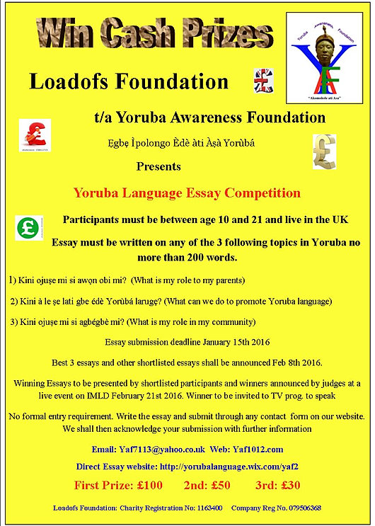 Essay Competition 2014 In Nigeria The Yoruba - image 7
