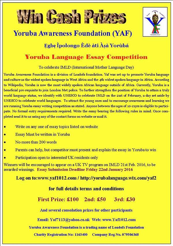 Essay Competition 2014 In Nigeria The Yoruba - image 4