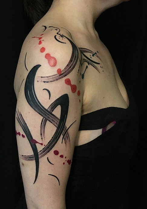 Watercolor and Abstract TATTOOS