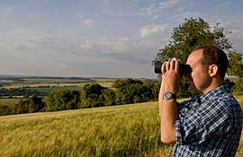 Ed Drewitt birdwatching.