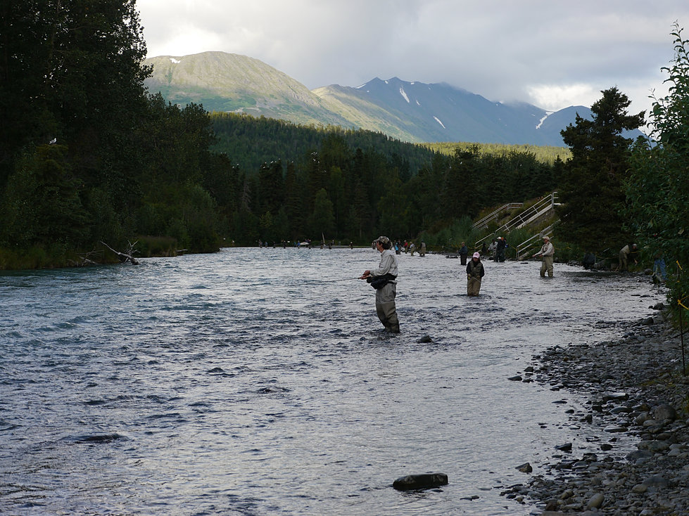 Alaska fishing on kenai and russian rivers for Cooper landing fishing guides