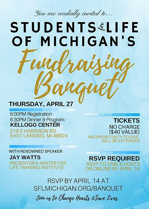 Students for Life of Michigan Banquet