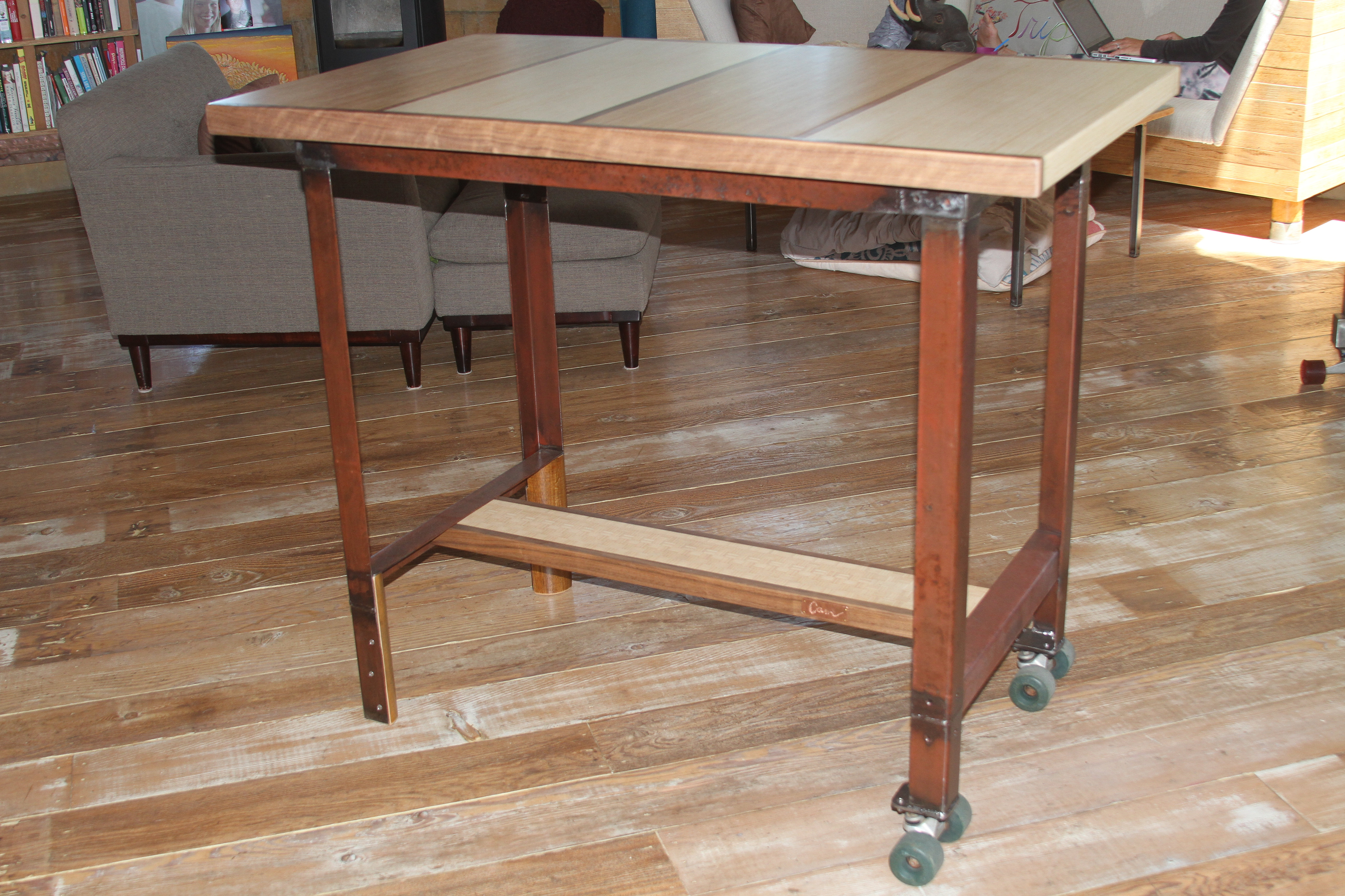Counter Height Entry Table : ... After Resource Cam Schiff Cayucos California Rolling Dining Table